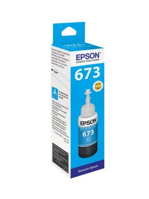 Epson 673 cyan - Bouteille T6732 - 70ml